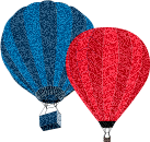 Blue red balloon